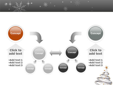 New Year Tree PowerPoint Template Slide 19