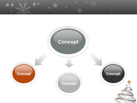 New Year Tree PowerPoint Template Slide 4