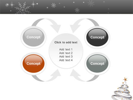 New Year Tree PowerPoint Template Slide 6