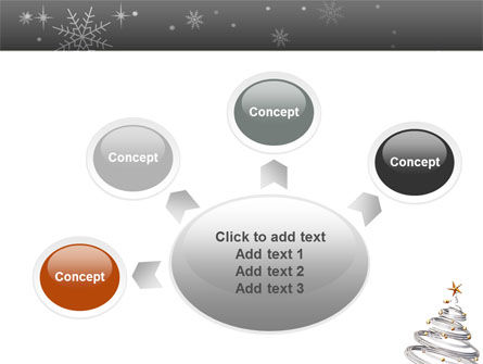 New Year Tree PowerPoint Template Slide 7