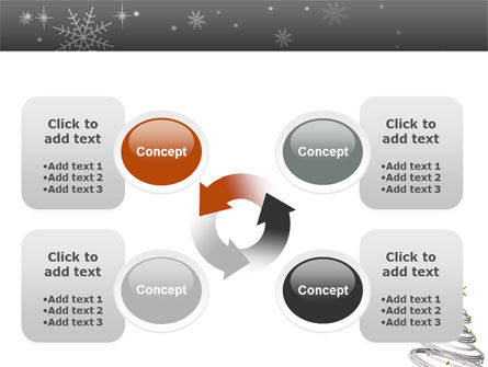 New Year Tree PowerPoint Template Slide 9