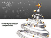 Holiday/Special Occasion: New Year Tree PowerPoint Template #04174