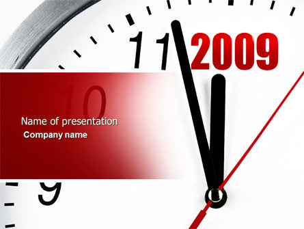 2009 Almost Here PowerPoint Template