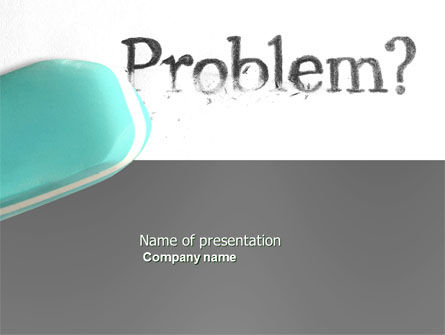 Consulting: Erasing a Problem PowerPoint Template #04178