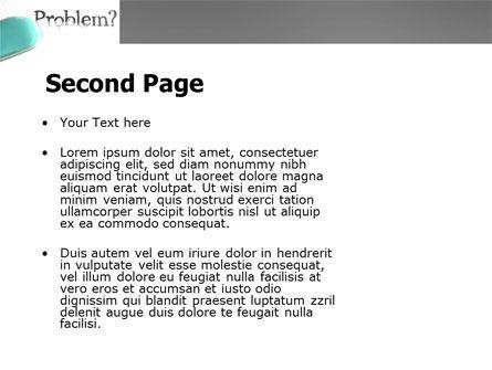 Erasing a Problem PowerPoint Template, Slide 2, 04178, Consulting — PoweredTemplate.com