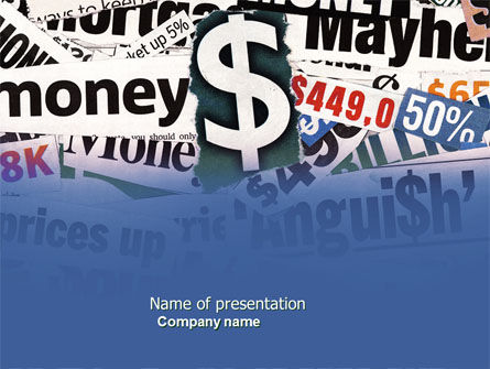 Financial/Accounting: Money Assets PowerPoint Template #04179