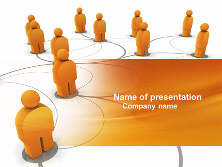 Careers/Industry: Social Network PowerPoint Template #04180
