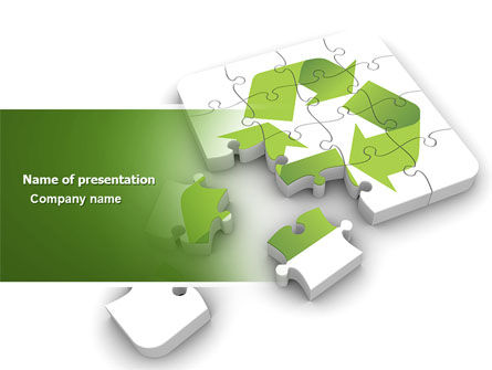 Business Concepts: Recycle Technology PowerPoint Template #04181