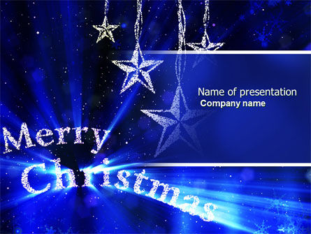 Holiday/Special Occasion: Blue Christmas PowerPoint Template #04182