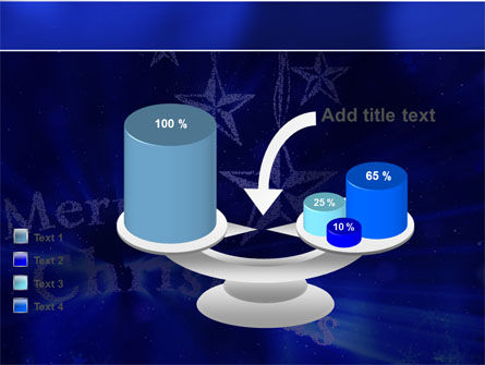 Blue Christmas PowerPoint Template Slide 10