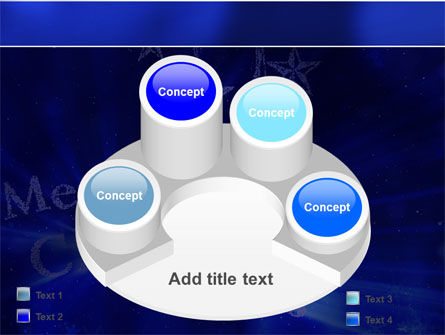 Blue Christmas PowerPoint Template Slide 12