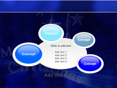 Blue Christmas PowerPoint Template Slide 16