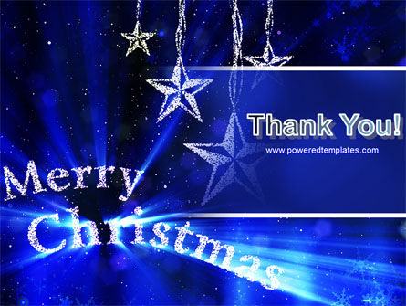Blue Christmas PowerPoint Template Slide 20