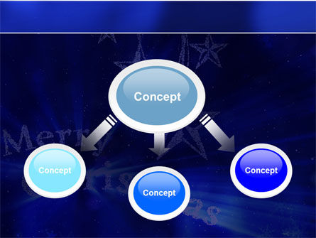 Blue Christmas PowerPoint Template Slide 4