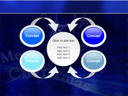 Blue Christmas PowerPoint Template Slide 6