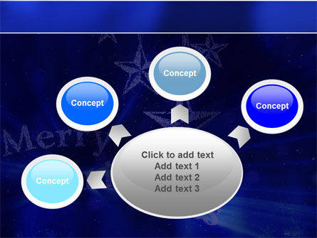 Blue Christmas PowerPoint Template Slide 7