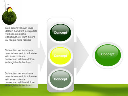 Green Planetoid PowerPoint Template Slide 11