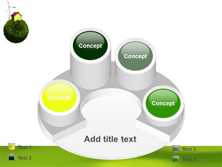 Green Planetoid PowerPoint Template Slide 12