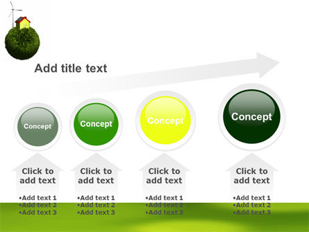 Green Planetoid PowerPoint Template Slide 13