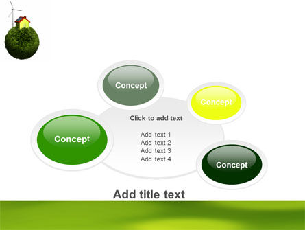Green Planetoid PowerPoint Template Slide 16