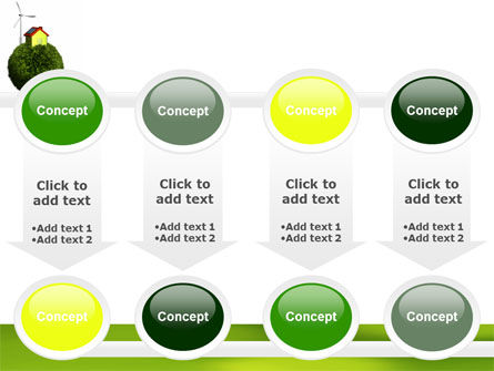 Green Planetoid PowerPoint Template Slide 18
