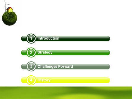 Green Planetoid PowerPoint Template Slide 3