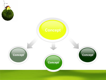 Green Planetoid PowerPoint Template Slide 4
