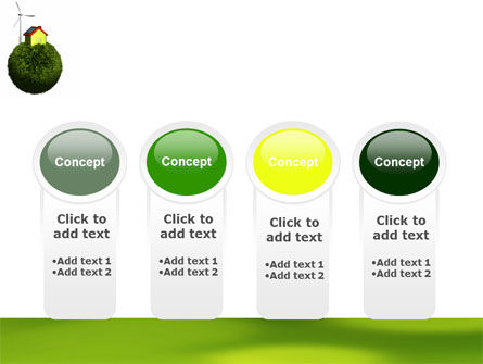 Green Planetoid PowerPoint Template Slide 5