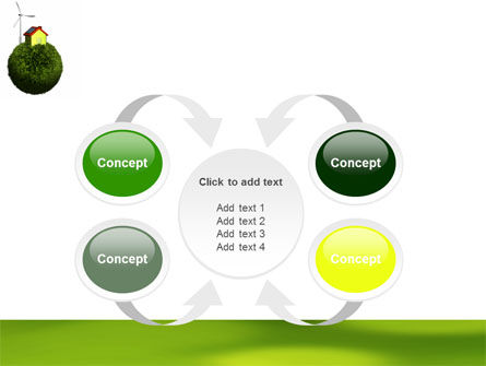 Green Planetoid PowerPoint Template Slide 6