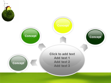 Green Planetoid PowerPoint Template Slide 7