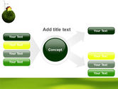 Green Planetoid PowerPoint Template#14