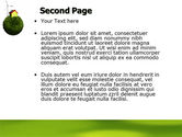 Green Planetoid PowerPoint Template#2
