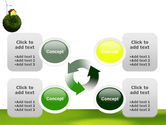 Green Planetoid PowerPoint Template#9