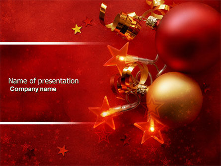 Holiday/Special Occasion: Red Christmas Theme PowerPoint Template #04186