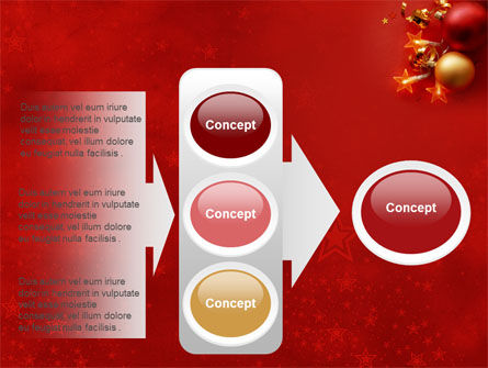 Red Christmas Theme PowerPoint Template Slide 11