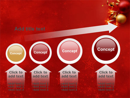 Red Christmas Theme PowerPoint Template Slide 13