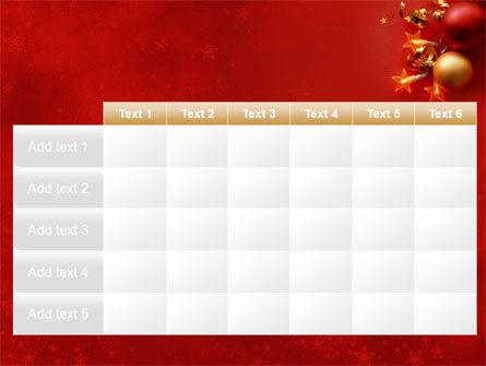 Red Christmas Theme PowerPoint Template Slide 15