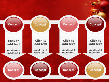Red Christmas Theme PowerPoint Template Slide 18