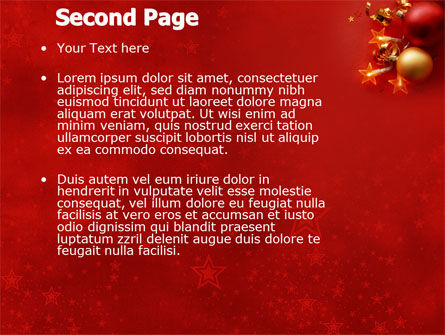 Red Christmas Theme PowerPoint Template Slide 2