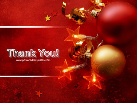 Red Christmas Theme PowerPoint Template Slide 20