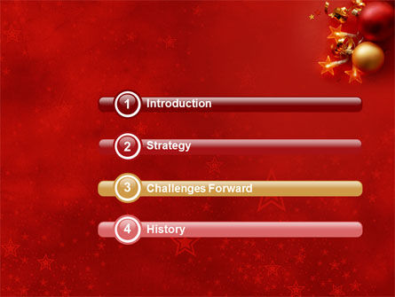 Red Christmas Theme PowerPoint Template Slide 3