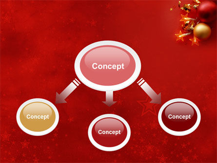 Red Christmas Theme PowerPoint Template Slide 4