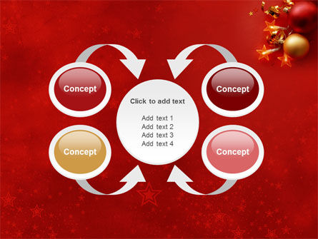 Red Christmas Theme PowerPoint Template Slide 6