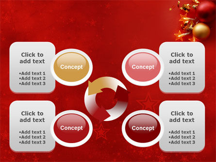 Red Christmas Theme PowerPoint Template Slide 9