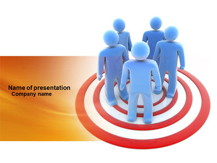 Target Audience PowerPoint Template, 04187, Consulting — PoweredTemplate.com