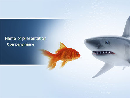 Predator and Prey PowerPoint Template, 04188, Business Concepts — PoweredTemplate.com