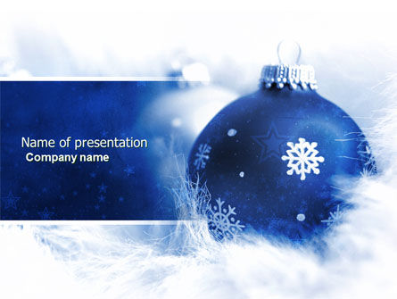 Holiday/Special Occasion: Christmas Decoration Ball PowerPoint Template #04190
