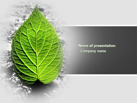 Green Idea PowerPoint Template, 04193, Nature & Environment — PoweredTemplate.com