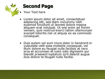 Helping Nature PowerPoint Template, Slide 2, 04194, Nature & Environment — PoweredTemplate.com