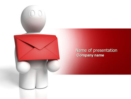 Email Delivery PowerPoint Template, 04195, Careers/Industry — PoweredTemplate.com